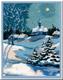 Winter - Counted Cross Stitch Kit with Color Symbolic Scheme