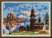 Autumn - Counted Cross Stitch Kit with Color Symbolic Scheme