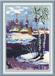 Spring - Counted Cross Stitch Kit with Color Symbolic Scheme