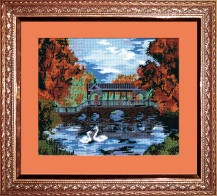 Chinese Bridge - Counted Cross Stitch Kit with Color Symbolic Scheme