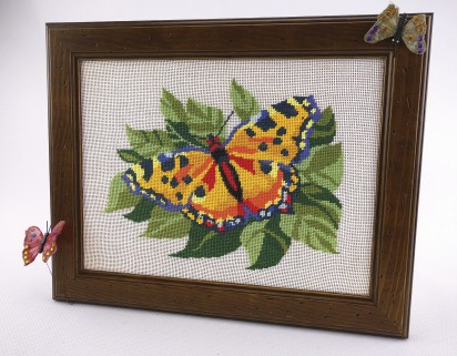 Yellow Butterfly - Counted Cross Stitch Kit with Color Symbolic Scheme