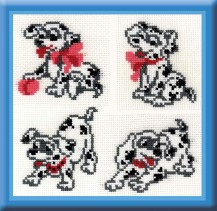 4 Dalmatian - Counted Cross Stitch Kit with Color Symbolic Scheme