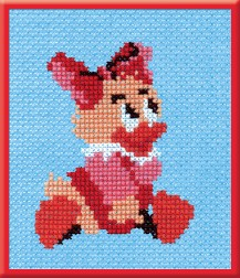 Small Duck - Counted Cross Stitch Kit with Color Symbolic Scheme