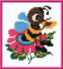 The Bee - Counted Cross Stitch Kit with Color Symbolic Scheme