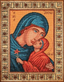 Saint Anna - Counted Cross Stitch Kit with Color Symbolic Scheme