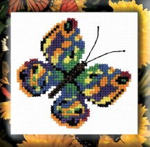 Greeb Butterfly - Counted Cross Stitch Kit with Color Symbolic Scheme