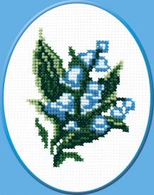 Lily Of The Valley - Counted Cross Stitch Kit with Color Symbolic Scheme