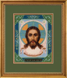 Holy Image Of The Saviour Not Made By Hands - Counted Cross Stitch Kit with Color Symbolic Scheme