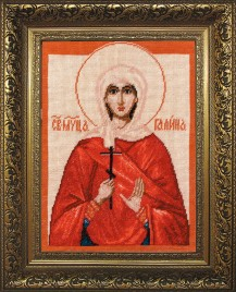 Saint Gailna - Counted Cross Stitch Kit with Color Symbolic Scheme