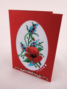 Poppy - Counted Cross Stitch Kit with Color Symbolic Scheme