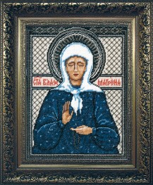 Saint Matrona - Counted Cross Stitch Kit with Color Symbolic Scheme