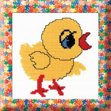 Chicklen - Counted Cross Stitch Kit with Color Symbolic Scheme