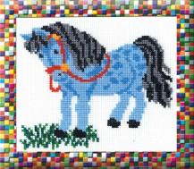 Horse - Counted Cross Stitch Kit with Color Symbolic Scheme