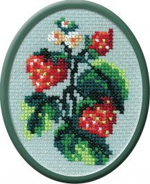Berries - Counted Cross Stitch Kit with Color Symbolic Scheme
