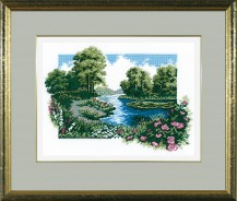 Summer Landscape - Counted Cross Stitch Kit with Color Symbolic Scheme