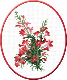 Flowers - Counted Cross Stitch Kit with Color Symbolic Scheme
