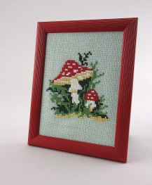Amanita - Counted Cross Stitch Kit with Color Symbolic Scheme