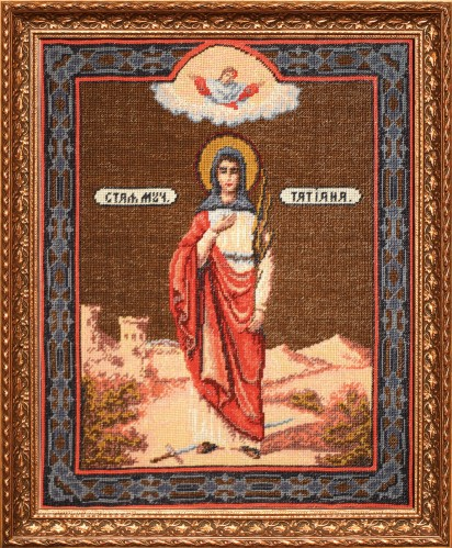 Saint Tatiana - Counted Cross Stitch Kit with Color Symbolic Scheme