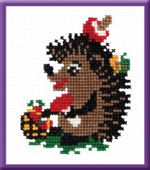 Swab - Counted Cross Stitch Kit with Color Symbolic Scheme