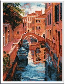 Venice - Counted Cross Stitch Kit with Color Symbolic Scheme