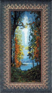 Automn, Konstantin Vasilyev - Counted Cross Stitch Kit with Color Symbolic Scheme