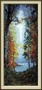 Automn, Konstantin Vasilyev - Counted Cross Stitch Kit with Color Symbolic Scheme
