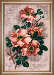 Large Rosehip - Counted Cross Stitch Kit with Color Symbolic Scheme