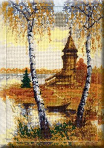 Chapel - Counted Cross Stitch Kit with Color Symbolic Scheme