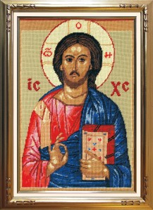 The Savior - Counted Cross Stitch Kit with Color Symbolic Scheme