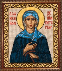 Blessed Xenia Of Petersburg - Counted Cross Stitch Kit with Color Symbolic Scheme