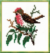 Redpoll - Counted Cross Stitch Kit with Color Symbolic Scheme
