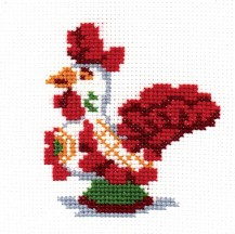 Dymkovo Toy - Counted Cross Stitch Kit with Color Symbolic Scheme