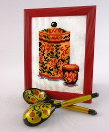 Hohloma - Counted Cross Stitch Kit with Color Symbolic Scheme
