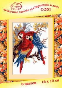 Parrot - Counted Cross Stitch Kit with Color Symbolic Scheme