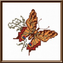 Butterfly 1 - Counted Cross Stitch Kit with Color Symbolic Scheme
