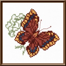 Butterfly 3 - Counted Cross Stitch Kit with Color Symbolic Scheme