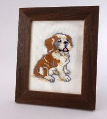 Yellow Dogs - Counted Cross Stitch Kit with Color Symbolic Scheme