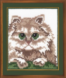 Persian Cat - Counted Cross Stitch Kit with Color Symbolic Scheme