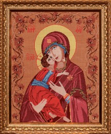 Holy Mother - Counted Cross Stitch Kit with Color Symbolic Scheme