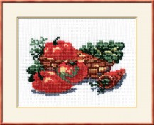Still-life Pepper - Counted Cross Stitch Kit with Color Symbolic Scheme
