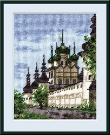 Kremlin Of Rostov - Counted Cross Stitch Kit with Color Symbolic Scheme