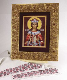 Saint Irina - Counted Cross Stitch Kit with Color Symbolic Scheme