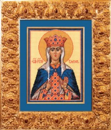Saint Elena - Counted Cross Stitch Kit with Color Symbolic Scheme