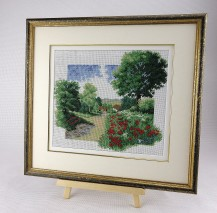 Landscape With Poppies - Counted Cross Stitch Kit with Color Symbolic Scheme