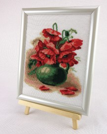 Poppies In The Basket - Counted Cross Stitch Kit with Color Symbolic Scheme