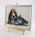 Cat & Dog - Counted Cross Stitch Kit with Color Symbolic Scheme