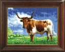 Bull In The Field - Counted Cross Stitch Kit with Color Symbolic Scheme
