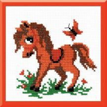 Hobbyhorse - Counted Cross Stitch Kit with Color Symbolic Scheme