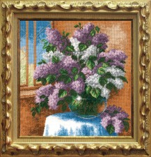 Lilac - Counted Cross Stitch Kit with Color Symbolic Scheme