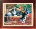 Cats On The Carpet - Counted Cross Stitch Kit with Color Symbolic Scheme